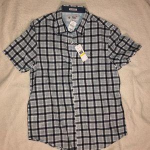 MENS Penguin Button Up Short Sleeve Shirt